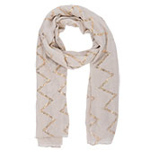 Scarf Metallic chevron