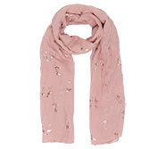 Scarf Rose gold flamingo
