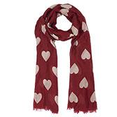Sjaal hearts