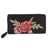 Purse Rose embroidery