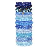 Armbanden set met standaard blauw