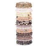 Armbanden set met standaard roze