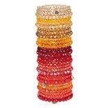 Armbanden set met standaard rood