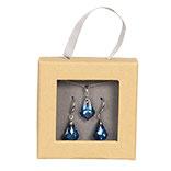 Ketting en oorbellen kristal
