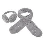 Oorwarmer/Sjaal kind grijs