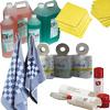 Schoonmaak-, onderhoudsapp. en -middelen