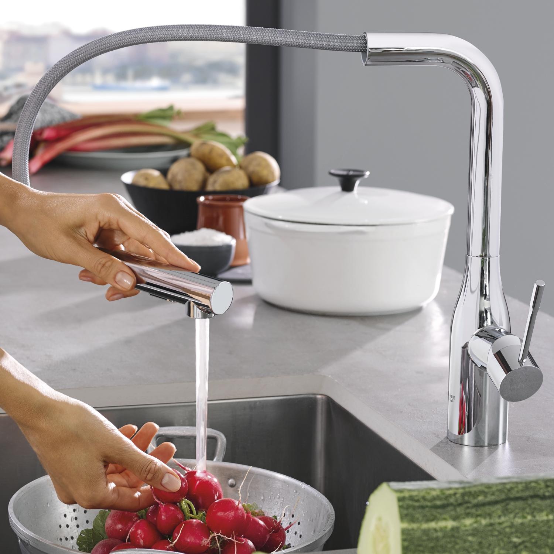 Keukenkranen met uittrekbare handdouche