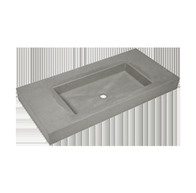 Wastafels beton 81cm