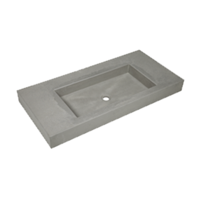 Wastafels beton 121cm