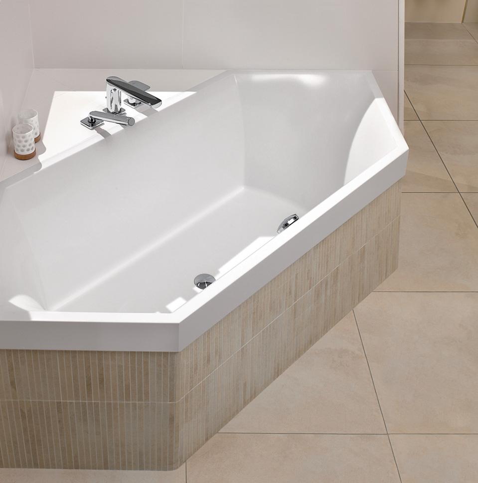 Zeshoekige baden