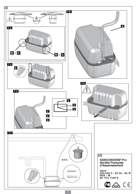 sfa sanibroyeur sanicondens pro opvoerinstallatie incl verloopstuk en afvoernippel 005088. Black Bedroom Furniture Sets. Home Design Ideas
