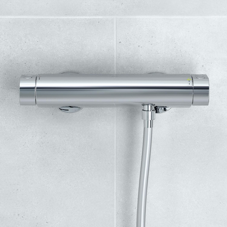 grohe grohtherm 2000 douchethermostaat met douchegarnituur 34281001. Black Bedroom Furniture Sets. Home Design Ideas