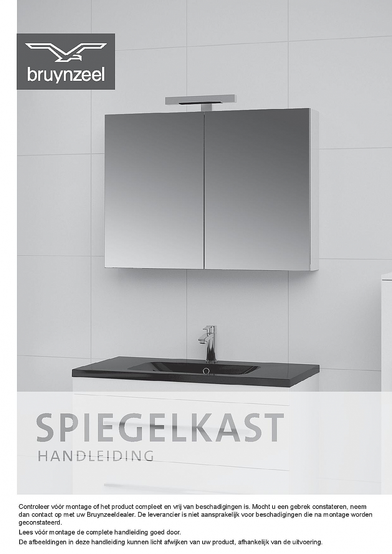 Bruynzeel spiegelkast 150cm met aluminium korpus 3-deurs zonder ...