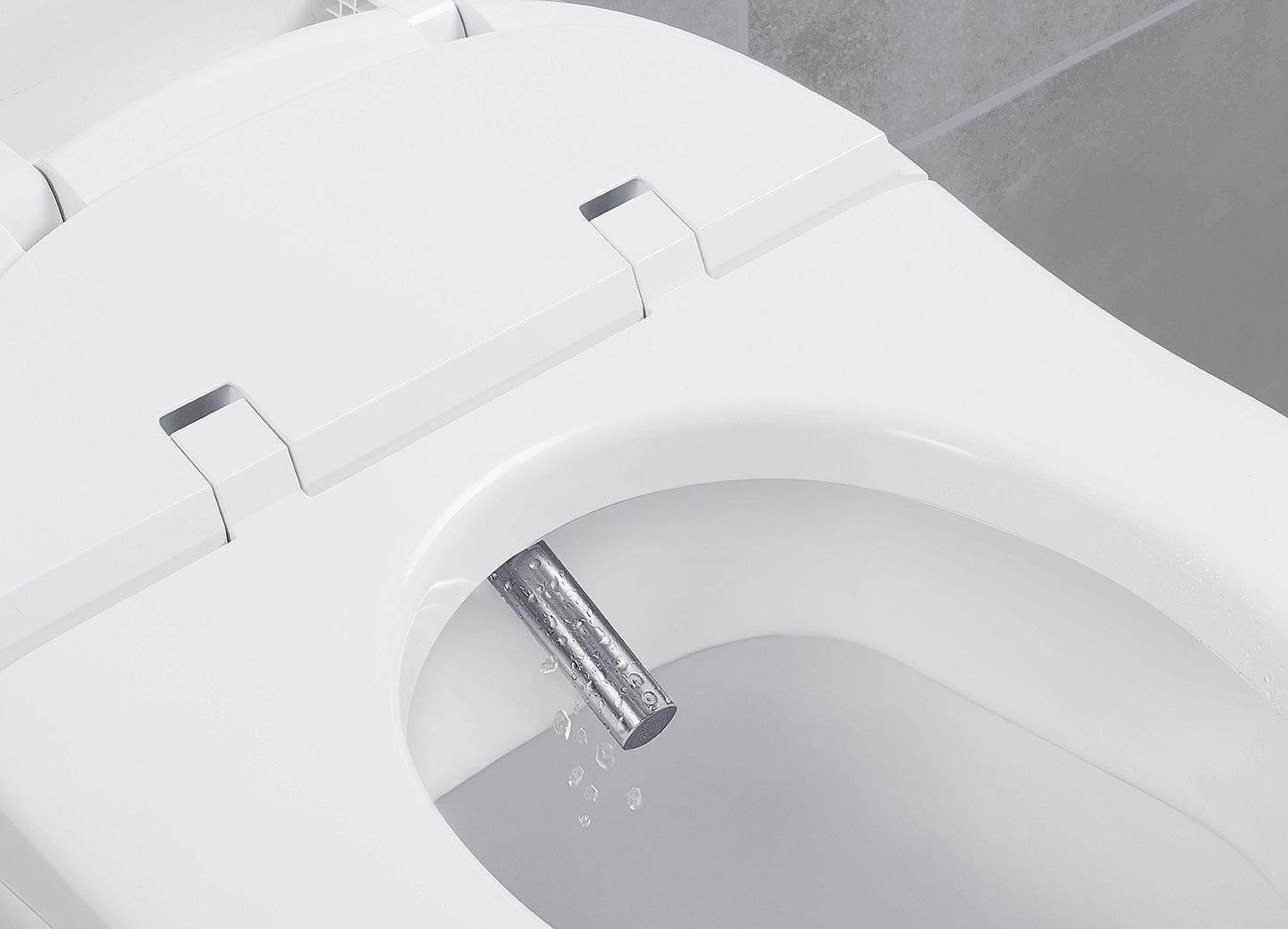 Toilet Met Wasfunctie : Villeroy boch closetzitting met onderdouche viclean v el