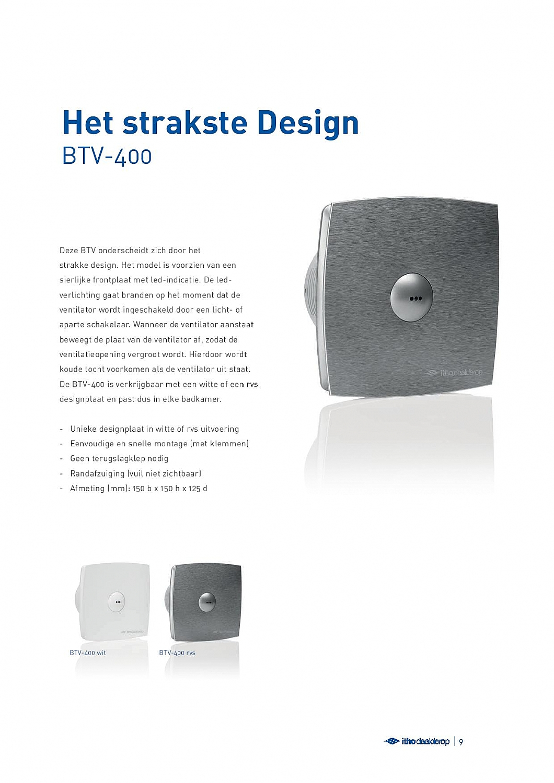 Itho-Daalderop Douche-/toiletventilator met timer BTV 400 3420050 ...