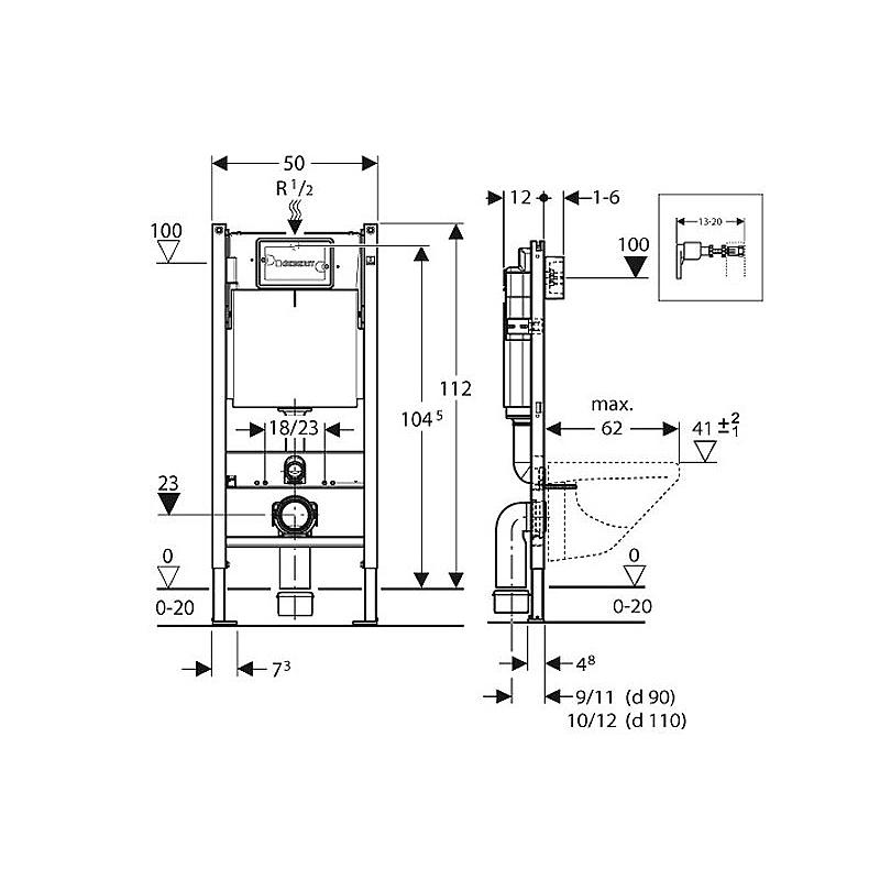 geberit duofix wc element m inbouwreservoir up100 basic h112cm 458103001. Black Bedroom Furniture Sets. Home Design Ideas
