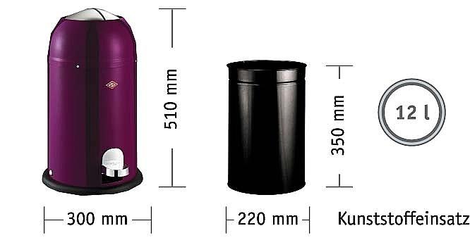 Wesco Kickmaster Junior 15 liter afvalemmer Zwart > Vrijstaand ...