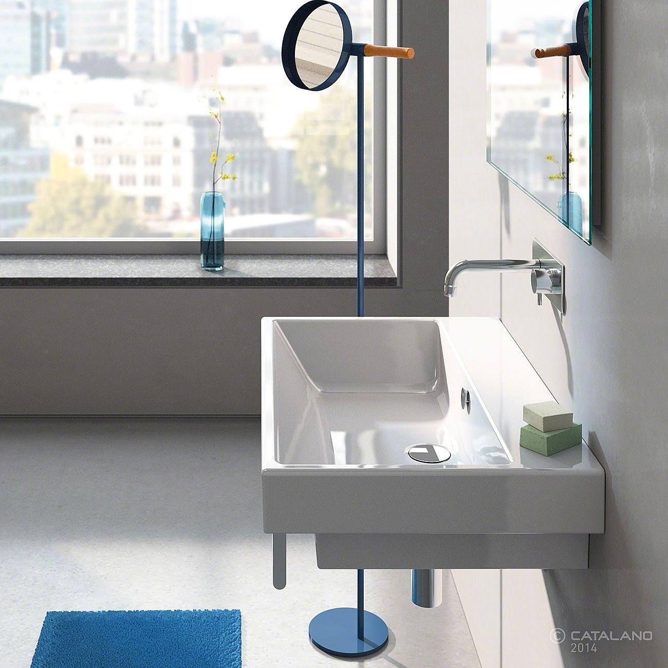 catalano zero wastafel 75x50cm wit met cataglaze 175ze00. Black Bedroom Furniture Sets. Home Design Ideas