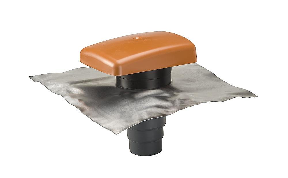 Ubbink Rioolontluchtingspan universeel RVT 200 terracotta met ...