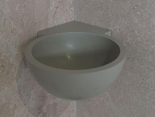 Inloopdouche Met Hoekfontein : Luca sanitair hoekfontein rond h van solid surface