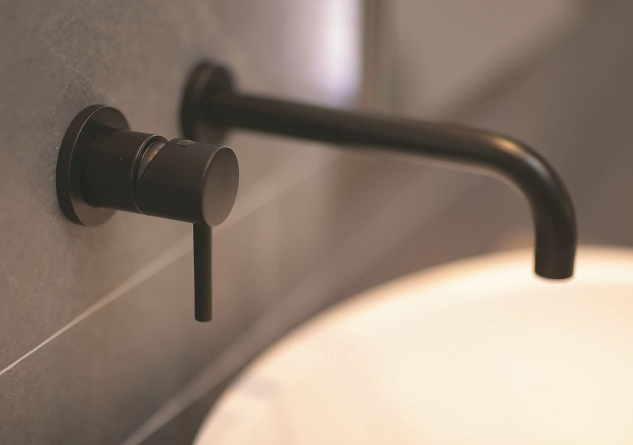 Zwarte Kraan Toilet : Bongio t mix inbouw wastafelkraan 16cm mat zwart bo32538ne16