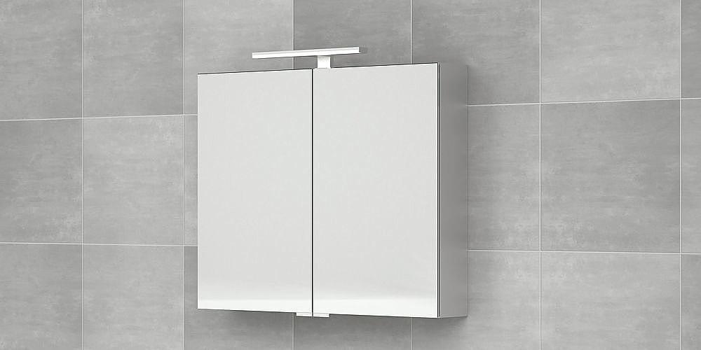 Bruynzeel spiegelkast 120cm met aluminium korpus 2-deurs zonder ...