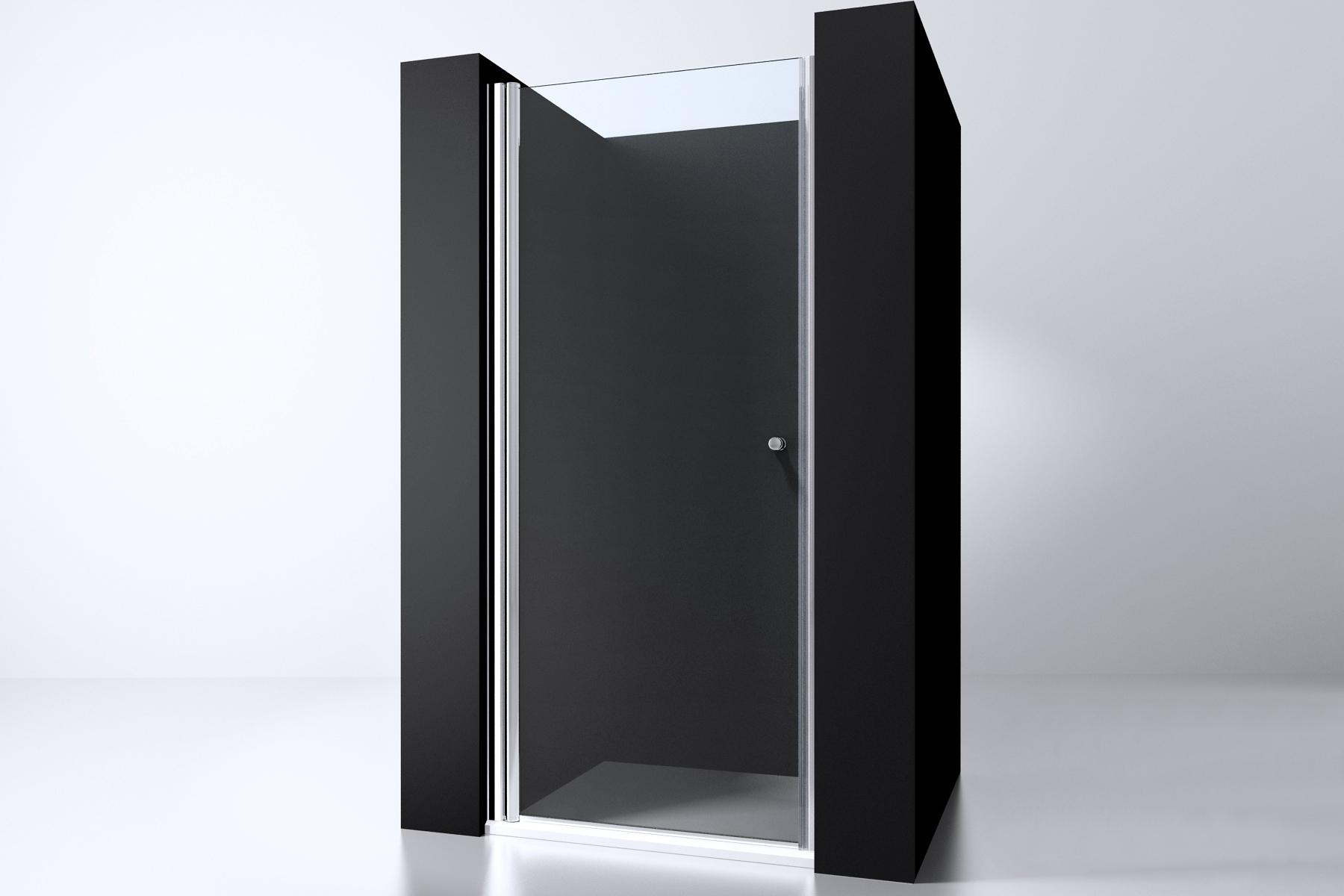 Douchedeur In Glas.Evolution Glass Douchedeur 90x200cm 6mm Nano Chroom Helder Glas