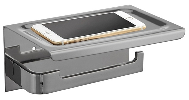Badkamer Accessoires Rvs : Evolution phone closetrolhouder cm rvs geborsteld