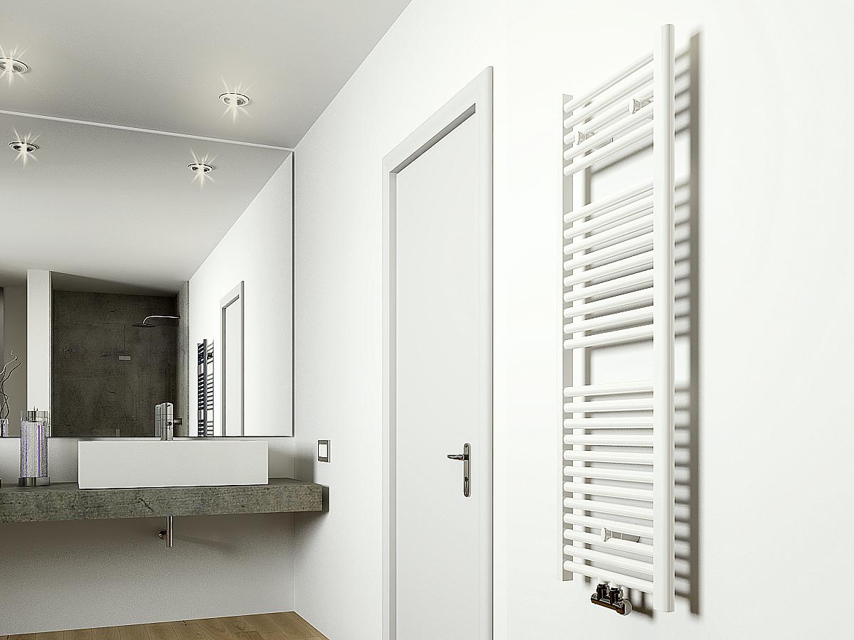 Design Verwarming Keuken : Frank co designradiator wit midden onder aansluiting