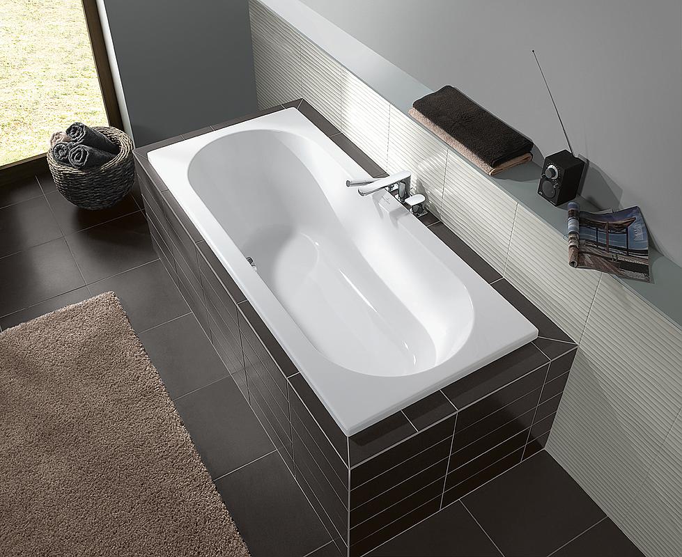 villeroy en boch bad acryl 180x80x50cm zonder badpoten wit uba180cas2v01. Black Bedroom Furniture Sets. Home Design Ideas