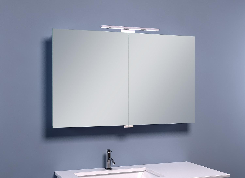 Badkamer Spiegelkast 100cm : Frank co spiegelkast met led verlichting cm u e spiegelkasten