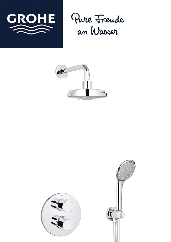 grohe grohtherm 3000 cosmopolitan perfect shower set met. Black Bedroom Furniture Sets. Home Design Ideas