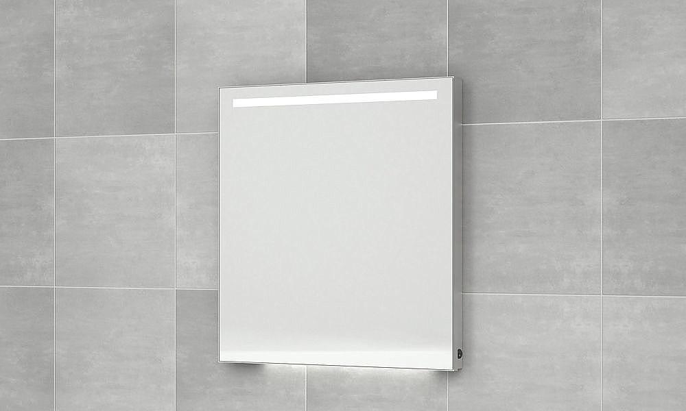 Vergrotende Spiegel Badkamer : Bruynzeel spiegel 120cm led verlicht m alu kader m spiegelverwarming