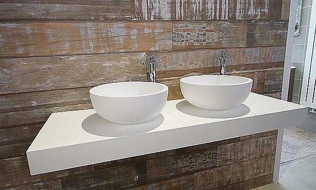 Luca sanitair badkamermeubel 140cm met 2 opbouwkommen mat wit u003e luca