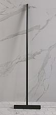 Luca vloerwisser met ophanghaakje 33x125cm mat zwart