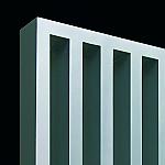 Vasco Arche VV designradiator verticaal 1800x470mm 1050W aansluiting 1188 wit (RAL9016) 1111704701800118890160000