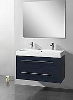 Evolution Compact Line badkamermeubel 100cm m. spiegel m. verlichting m. 1 kraangat antraciet hoogglans