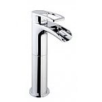 Frank&Co Alegra waterval wastafelkraan hoog model chroom