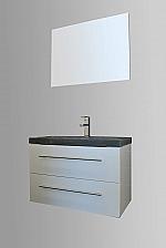 Evolution Compact Stone badkamermeubel 80cm met 1 kraangat hoogglans wit
