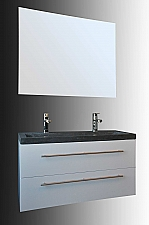 Evolution Compact Stone badkamermeubel 100cm met 1 kraangat hoogglans wit