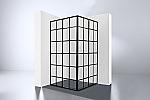 Evolution Black Corner hoekinstap 89x210cm zwart/helder glas