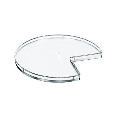 Kesseböhmer Draaiplateau sets Arena chroom/wit ø 700mm