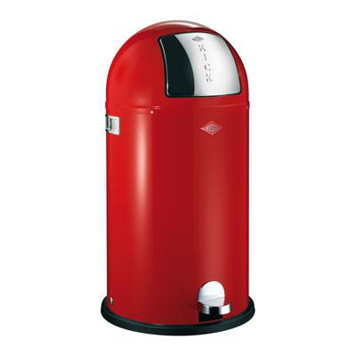 Wesco Kickboy 40 liter afvalemmer rood