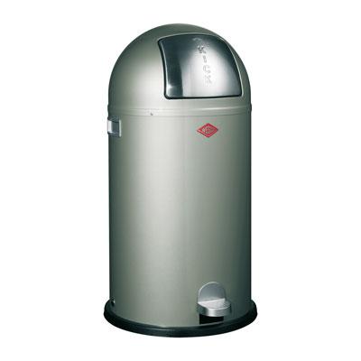 Wesco Kickboy 40 liter afvalemmer nieuw zilver