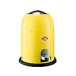 Wesco Singlemaster Soft 9 liter afvalemmer geel