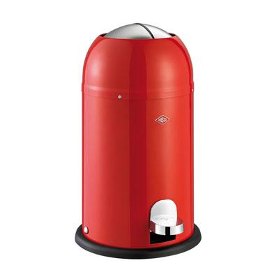 Wesco Kickmaster Junior 15 liter afvalemmer Rood