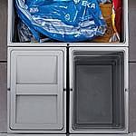 Hailo Separato K45 Afvalemmer 34 liter grijs