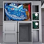 Hailo Separato K50 Afvalemmer 34 liter grijs