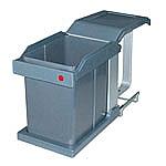 Hailo Solo-Automatic Afvalemmer 20 liter grijs/zilver