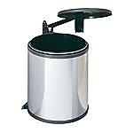 Hailo Big-Box 15 liter afvalemmer AE371510 rvs/donkerbruin